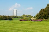 foto of bonnes  - Image of a national park in Bonn Germany with flowers pathways trees and lush green grass - JPG
