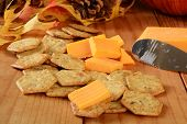 Cheddar Cheese And Basil Crackers