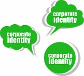Corporate Identity. Set Of Stickers, Labels, Tags. Business Banners, Template For Infographics