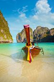 Traditional Long Tail Boat, Thailand Phi-phi Island.