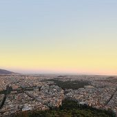 Cityscape aerial view, Athens Greece