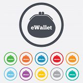 eWallet sign icon. Electronic wallet symbol.
