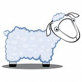 children cartoon illustration of a sheep