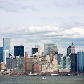 New York City at Lower Manhattan downtown