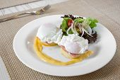 stock photo of benediction  - Eggs Benedict - JPG