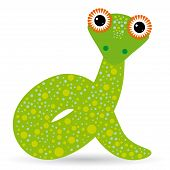 Cartoon Illustration Of A Snake On A White Background.