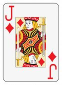 Jumbo index jack of diamonds playing card