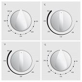 Oven Dial Vector