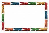 Colored Clothes Pin Border