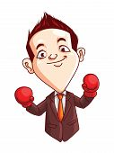 Office Man Boxing