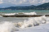 Storm surges and breakwater.