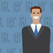 Businessman, people occupation. Vector illustration