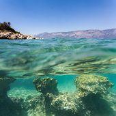 background sand on the beach underwater