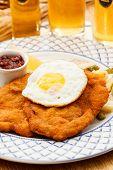 Wiener Schnitzel with egg
