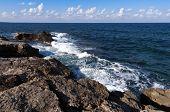 Rocky Shore And Sea