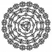 Oriental arabesque round pattern background