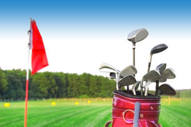 foto of golf bag  - Golf game - JPG