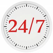 Watch labeled 24 hours a week