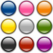Vector button icon, samples