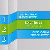 Design With Three Stripes. Design Element.