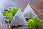 mint tea in bags