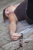 stock photo of gruesome  - crime scene  - JPG