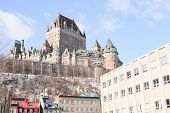 foto of chateau  - Chateau Frontenac in winter - JPG