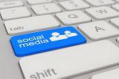 Keyboard - Social Media - Blue