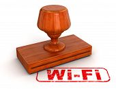 Rubber Stamp Wi-Fi (clipping path included)