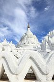 The white pagoda of Hsinbyume (Mya Thein Dan pagoda ) paya temple, Mingun, Mandalay - Myanmar