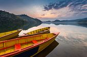 Boats At Begnas Lake