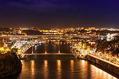stock photo of dom  - The Dom Luis I Bridge is a metal arch bridge that spans the Douro River between the cities of Porto and Vila Nova de Gaia Portugal - JPG