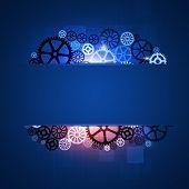 Gear Shapes Blue Business