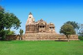picture of jain  - The Khajuraho Group of Monuments are a group of Hindu and Jain temples in Madhya Pradesh India - JPG