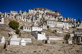 pic of tibetan  - Thiksey Monastery is a Tibetan Buddhist monastery in Ladakh India - JPG