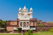 stock photo of mausoleum  - Jaswant Thada mausoleum in Jodhpur Rajasthan India - JPG