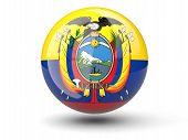 Round Icon Of Flag Of Ecuador