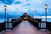 picture of langkawi  - Sunset on the seashore of Langkawi Island - JPG