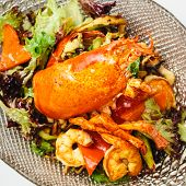 Lobster salad in japanese style