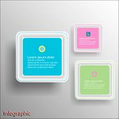 Rounded Rectangular Frame Design Template In Vector Format.