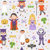 Halloween kids pattern