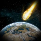 Asteroids Over Planet Earth