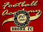 Newyork Football academy college tee graphic