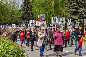 May 9Th. Victory Day. Immortal Regiment.