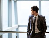 picture of handsome-male  - Portrait of a smiling handsome business man - JPG