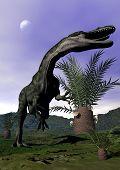 Monolophosaurus dinosaur roaring - 3D render