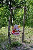 Toy Elephant On Teeter