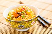 Fried Noodles With Sweet And Sour Vegetables