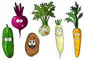 foto of kohlrabi  - Cartoon fresh funny beetroot - JPG