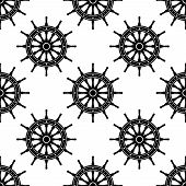 Seamless pattern with helms